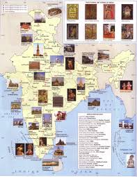 India On Map by India Heritage Map World Heritage Sites Map India