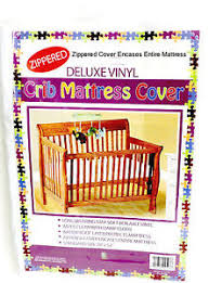 Crib Mattress Cover With Zipper Vinyl Crib Mattress Cover Keeps Bed Bugs Mites Out Standard Size