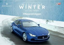maserati teal maserati aspen winter drive experience official pictures