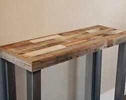 wood and metal sofa table wood sofa table etsy