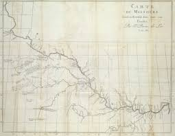 Map Of Missouri State by Perrin Dulac U0027s Map Of The Missouri River 1802