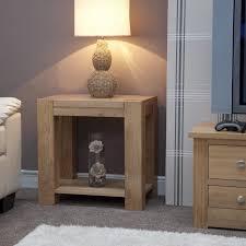 oak livingroom furniture nightstand beautiful simple living room side table square wooden