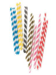 paper straws striped paper straws