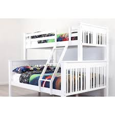 Bailey White Single  Double Bunk Bed Frame Sleeping Giant - Single double bunk beds
