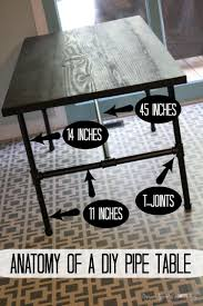 Length Of 8 Person Dining Table by Diy Pipe Table Tutorial How We Saved 1 800 Designer Trapped