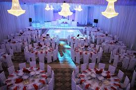 reception banquet halls blue lighting theme for wedding at royal palace banquet