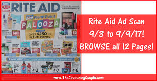rite aid weekly ad scan 9 3 17 9 9 17 browse all 12 pages
