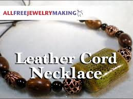 leather necklace knot images Leather cord necklace with adjustable knot jpg