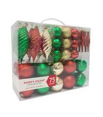 maker s 75ct shatterproof ornaments green gold joann