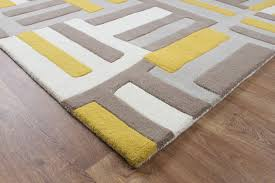 Yellow Rugs Matrix Code Yellow Wool Rug Max17 Martin Phillips Carpets