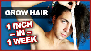 1 inch of hair grow your hair 1 inch in 1 week myth bust youtube