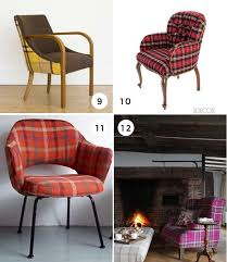 Tartan Armchairs 16 Ways To Add Tartan Wools Into Your Home The Interior Collective