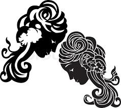 stencil decorative ornament second variant stock