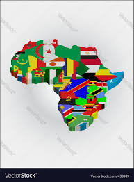 3d africa map vector 3d africa map royalty free vector image vectorstock