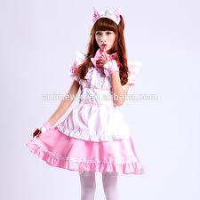 Maid Halloween Costumes Quality Pink Skirt Dress Maid Costume