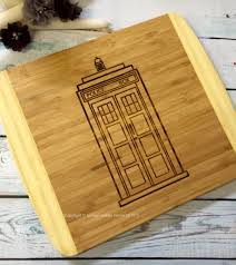 doctor who cutting board man cave gift unique mens gift