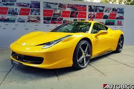 ferrari yellow yellow ferrari 458 italia in mumbai autobics