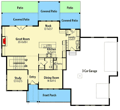 Contemporary Farmhouse Floor Plans Modern Farmhouse With Optional Bonus Room 95041rw
