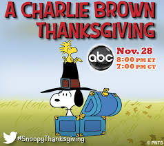 peanuts on a brown thanksgiving debuted