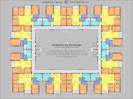 centralliving rectangle floor plan conference centre pinterest