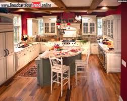 k che uform wohnideen küche französisch u form insel rote wände