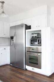 white kitchen appliances large elegant modern wood and white