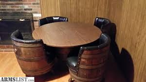 Whiskey Barrel Chairs Armslist For Trade Whiskey Barrel Bar Room