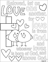 bible love coloring page archives mente beta most complete