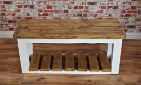 Wooden Storage Bench Reclaimed Wood Storage Bench For More Functional Benefits Home
