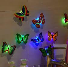 aliexpress com buy 10 pcs wall stickers butterfly led lights