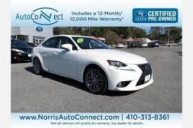 lexus is 250 warranty used lexus is 250 for sale in baltimore md edmunds