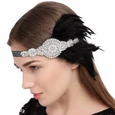 1920s hair accessories online shop hair accessories black rhinestone beaded sequins hair