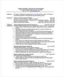 Teacher Resume Examples 2013 by Spanish Resume Template Modern Resume Template Sample Resume 34