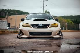 white subaru hatchback grounded ian galvez u0027s sti hatch stancenation form u003e function