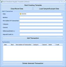 Check Register Template Excel Excel Checkbook Register Template Software