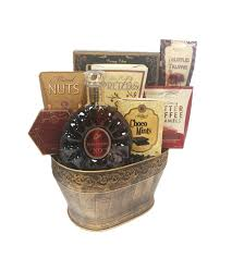 high end gift baskets excellence cognac gift basket by pompei baskets