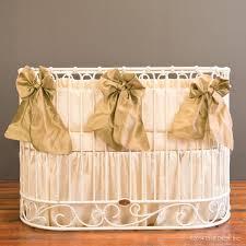 Oval Crib Bedding Serafina Oval Crib Bedding Set Bedding Crib Oval Gold