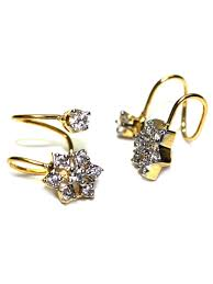 diamond earrings beautiful american diamond earrings d51 oc 19 cilory