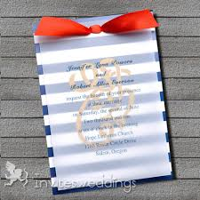 sts for wedding invitations blue and white nautical ribbon layered wedding invites iwfc036