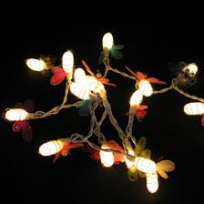string lights with clips thai silk glow bug string lights