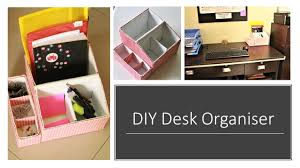Desk Organizer Box Diy Multipurpose Desk Organizer From Shoe Box Youtube