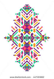 set fashion mexican navajo aztec stock vector 588126077