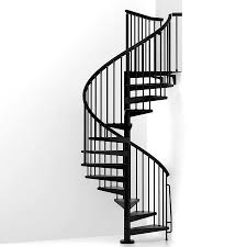 shop arke eureka 63 in x 10 ft black spiral staircase kit at lowes com