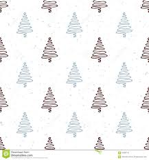 seamless pattern with hand drawn christmas tree stock vector