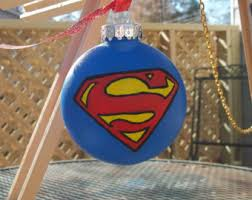 superman ornament etsy