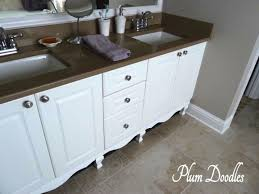 How To Build Your Own Bathroom Vanity by Make A Bathroom Vanity Look Like A Custom Piece Of Furniture From