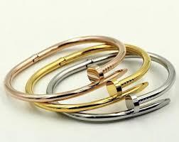 stainless steel cartier bracelet images Cartier love bracelet etsy jpg