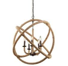 Nautical Rope Chandelier Danbury Rope Orb Chandelier By Artcraft Lighting Connection