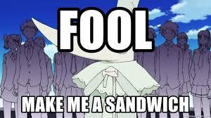 Soul Eater Excalibur Meme - fool make me a sandwich excalibur soul eater meme generator