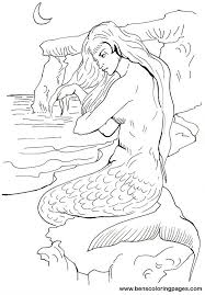 mermaid coloring sheets gallery kids ideas 6743 unknown